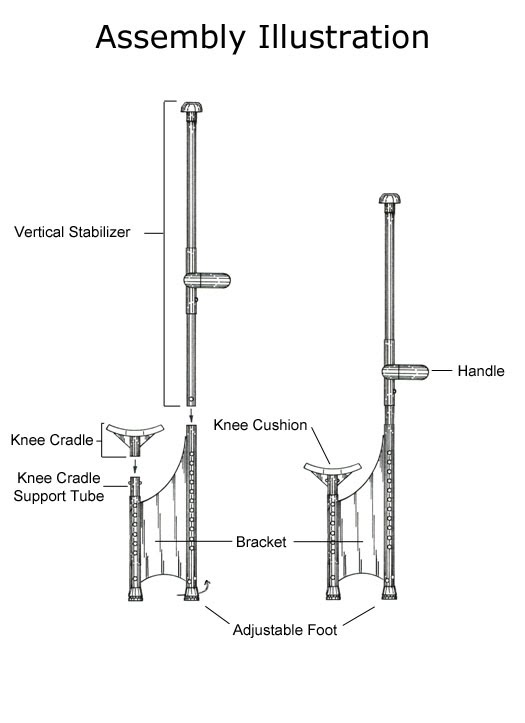 Easy Crutch - Assembly Illustration